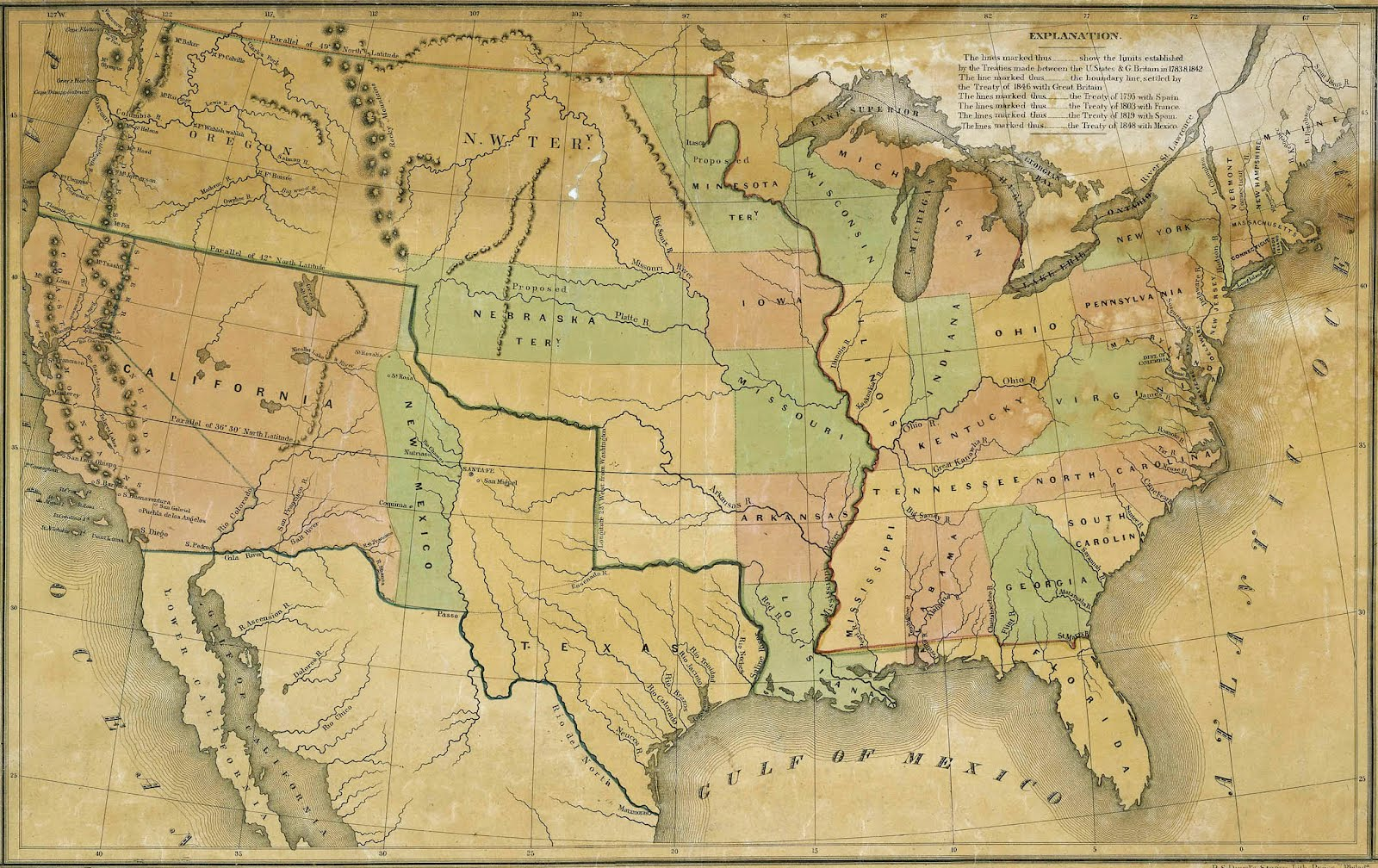 What Is Manifest Destiny? – The Art of Manifest Destiny United States Map on u.s. railroad map 1849, california map 1849, mexico map 1849, wisconsin map 1849, arizona map 1849, boston map 1849, texas map 1849, world map 1849, greece map 1849, nevada map 1849, europe map 1849,